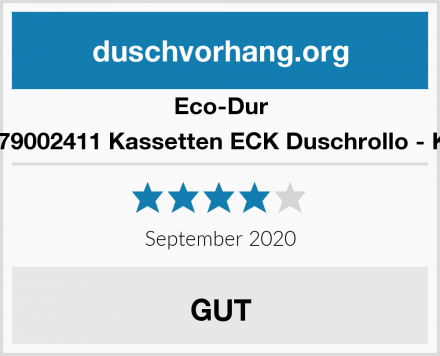 Eco-Dur 4024879002411 Kassetten ECK Duschrollo - Kreisel Test