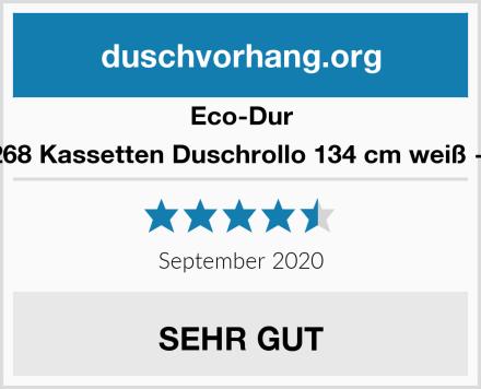 Eco-Dur 4024879002268 Kassetten Duschrollo 134 cm weiß - Ocean weiß Test