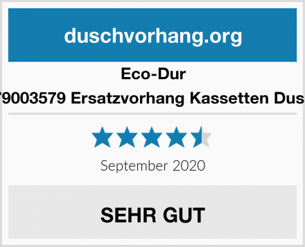 Eco-Dur 4024879003579 Ersatzvorhang Kassetten Duschrollo Test