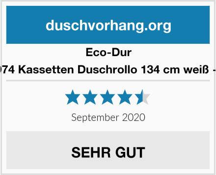 Eco-Dur 4024879000974 Kassetten Duschrollo 134 cm weiß - Fische weiß Test