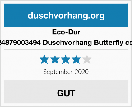 Eco-Dur 4024879003494 Duschvorhang Butterfly color Test