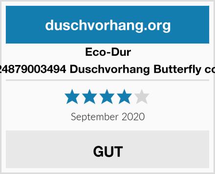 Eco-Dur 4024879003494 Duschvorhang Butterfly color Test