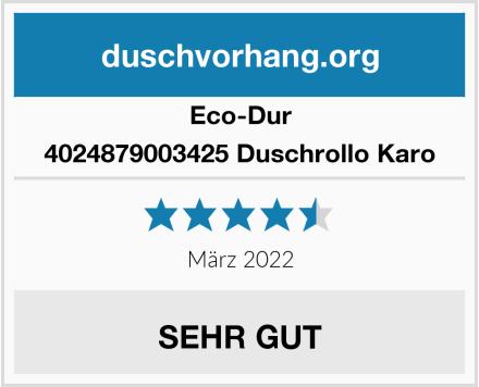 Eco-Dur 4024879003425 Duschrollo Karo Test