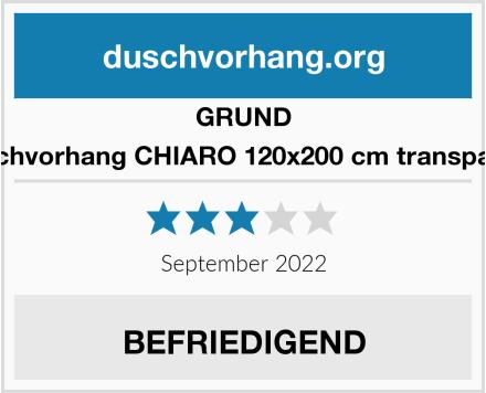 GRUND Duschvorhang CHIARO 120x200 cm transparent Test