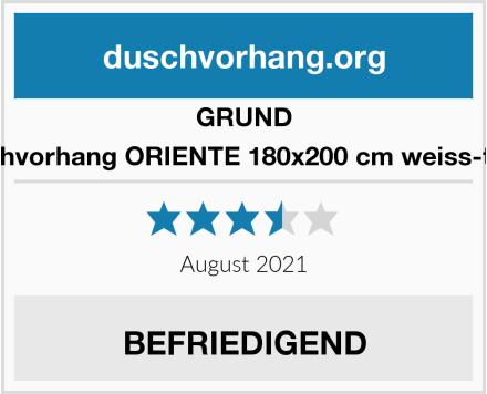GRUND Duschvorhang ORIENTE 180x200 cm weiss-taupe Test