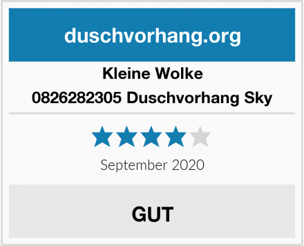 Kleine Wolke 0826282305 Duschvorhang Sky Test