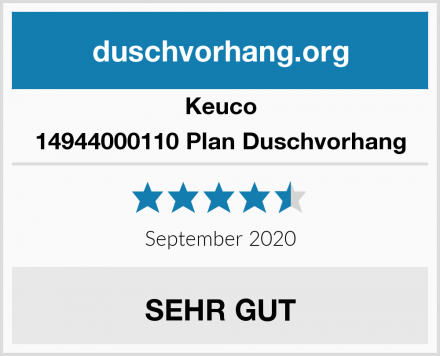 Keuco 14944000110 Plan Duschvorhang Test