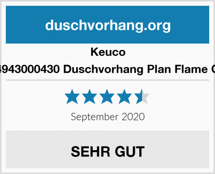 Keuco 14943000430 Duschvorhang Plan Flame CS Test
