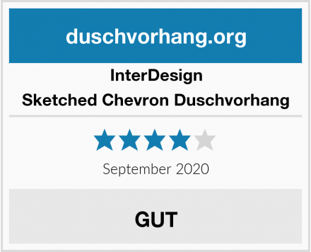 InterDesign Sketched Chevron Duschvorhang Test