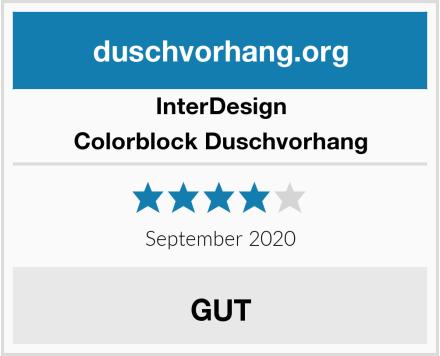 InterDesign Colorblock Duschvorhang Test