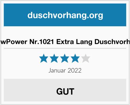 ShowPower Nr.1021 Extra Lang Duschvorhang Test