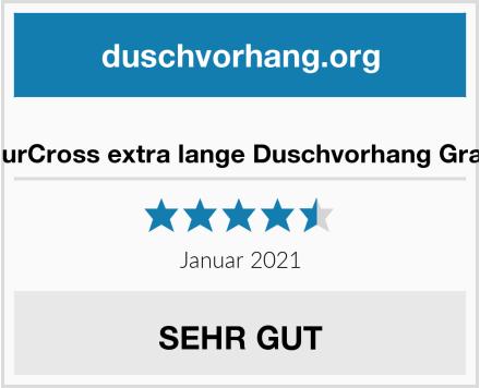 EurCross extra lange Duschvorhang Grau Test