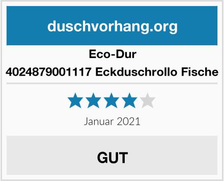 Eco-Dur 4024879001117 Eckduschrollo Fische Test