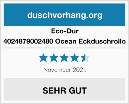 Eco-Dur 4024879002480 Ocean Eckduschrollo Test