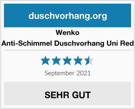 Wenko Anti-Schimmel Duschvorhang Uni Red Test
