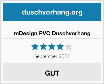 mDesign PVC Duschvorhang Test