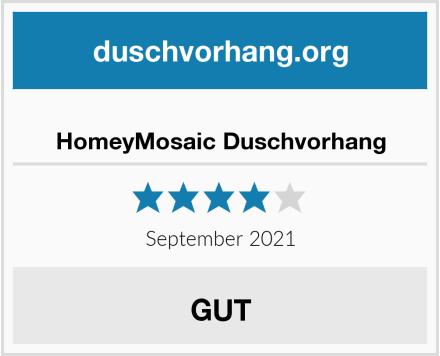 HomeyMosaic Duschvorhang Test