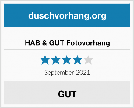 HAB & GUT Fotovorhang Test