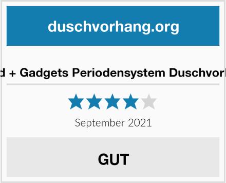 Good + Gadgets Periodensystem Duschvorhang Test
