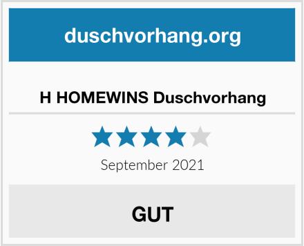 H HOMEWINS Duschvorhang Test