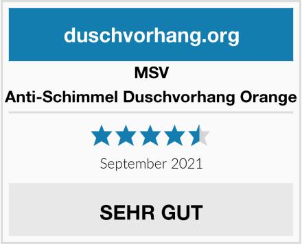 MSV Anti-Schimmel Duschvorhang Orange Test