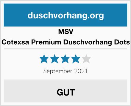 MSV Cotexsa Premium Duschvorhang Dots Test