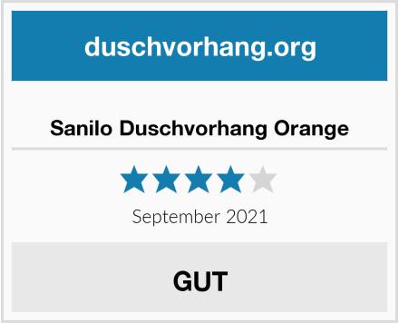 Sanilo Duschvorhang Orange Test