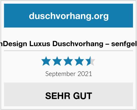 mDesign Luxus Duschvorhang – senfgelb Test