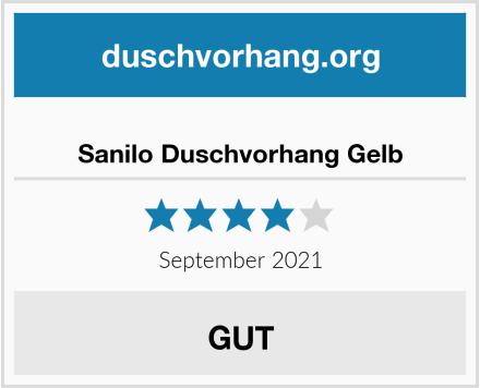 Sanilo Duschvorhang Gelb Test