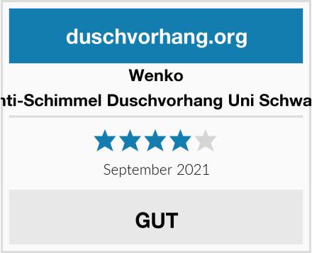 Wenko Anti-Schimmel Duschvorhang Uni Schwarz Test