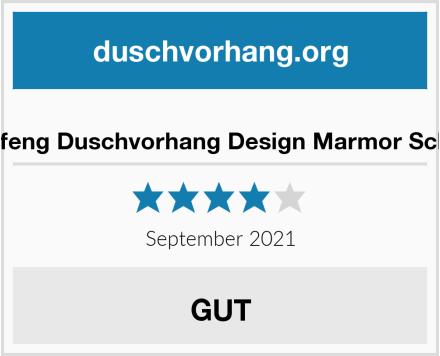Xiongfeng Duschvorhang Design Marmor Schwarz Test
