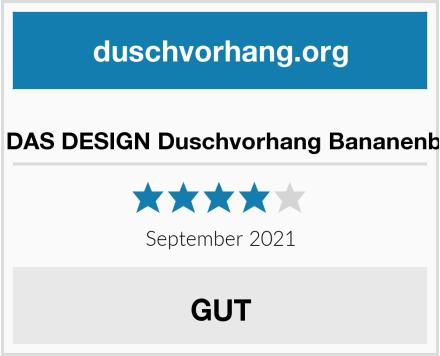 M&W DAS DESIGN Duschvorhang Bananenblätter Test