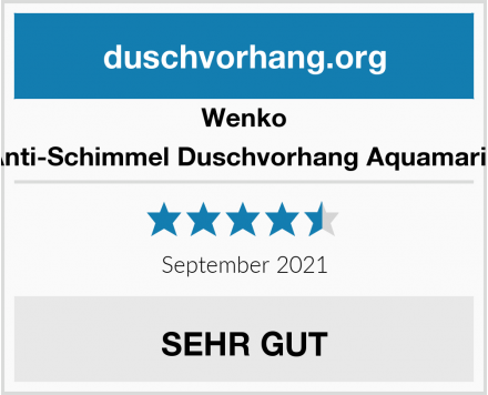 Wenko Anti-Schimmel Duschvorhang Aquamarin Test