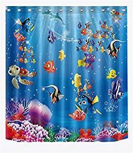 Duschvorhänge mit Fischen