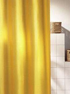 Gelbe Duschvorhänge