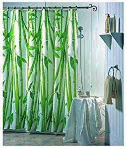 Grüne Duschvorhänge