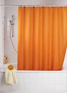 Orange Duschvorhänge