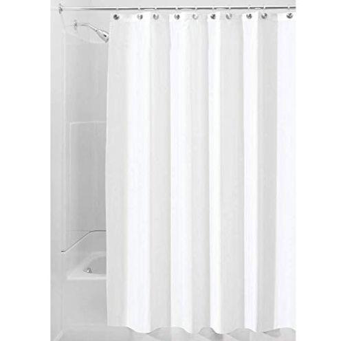 InterDesign Duschvorhang aus Stoff weiß