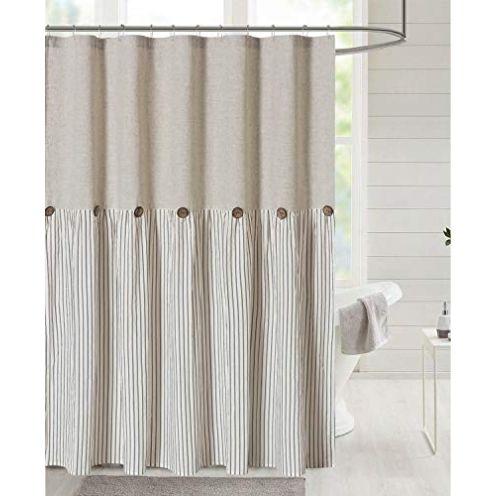 DOSLY IDÉES Duschvorhang aus Baumwolle