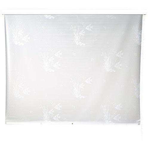Eco-Dur 4024879000974 Kassetten Duschrollo 134 cm weiß - Fische weiß