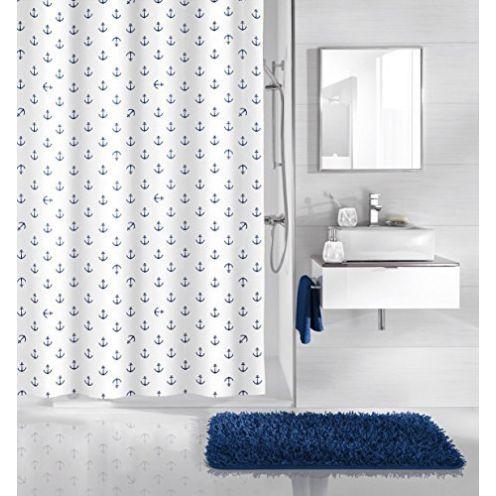 Kleine Wolke textilgesellschaft Duschvorhang Blau