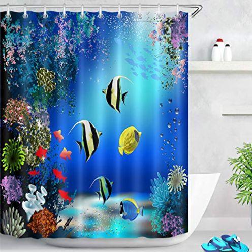 LB Duschvorhang Fische