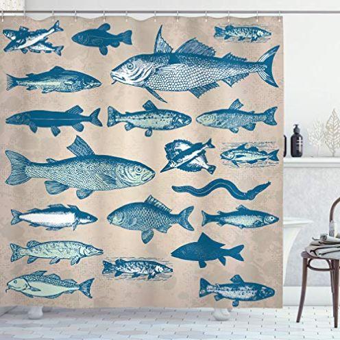 ABAKUHAUS Fisch Duschvorhang