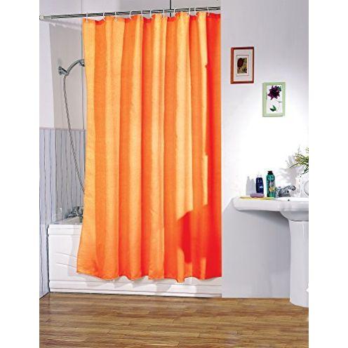 MSV Anti-Schimmel Duschvorhang Orange